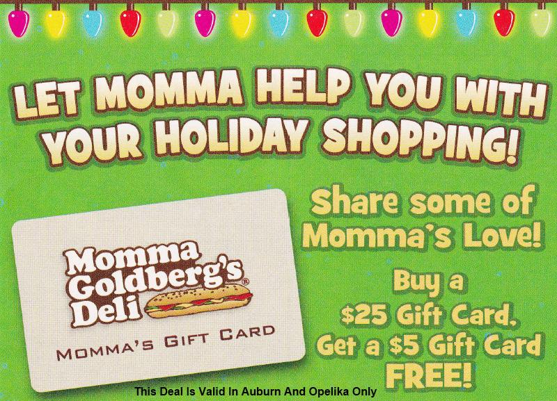 Momma goldberg's coupons newnan
